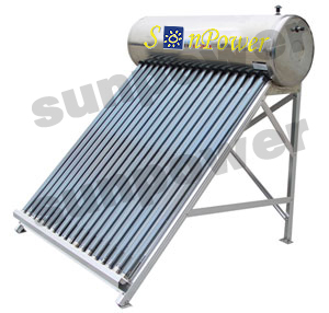 Low Pressure commercial evacuated tube Solar Water Heater