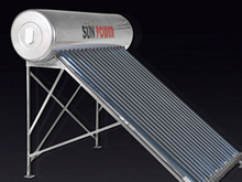 Stainless Steel Non Pressure evacuated tube Solar Water Heater
