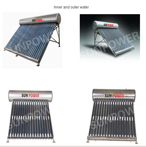 Non Pressure Series commercial evacuated tube Solar Water Heater