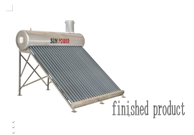 Copper coil powerful evacuated tube Solar water heater