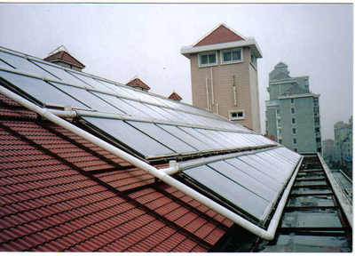 Project Collector residential Solar Water Heater