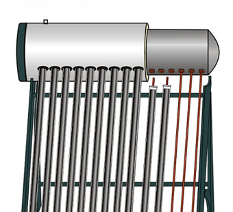 Galvanized Steel Pressurized vacuum tube Solar Water Heater (SPP)