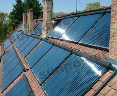 Rooftop Commercial Vacuum Tube Solar Water Heater