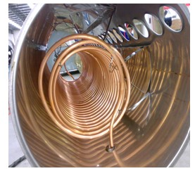 Copper coil outdoor pressurized Solar water heater