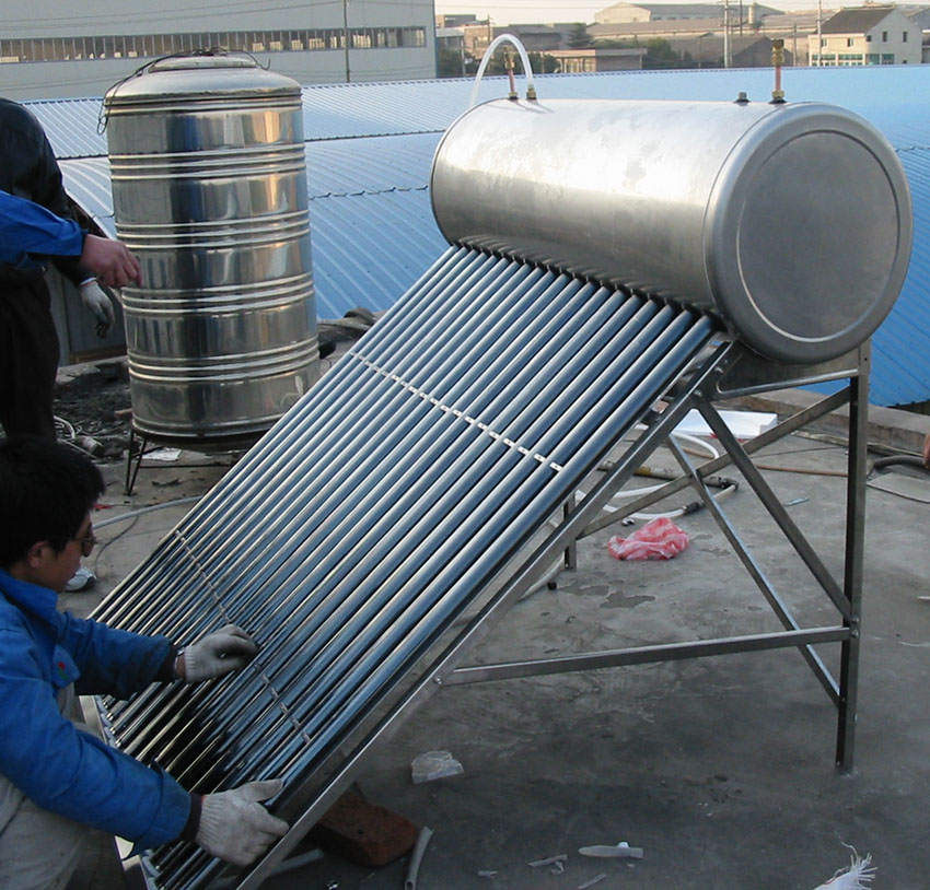 Copper coil Stainless Steel residential Solar water heater