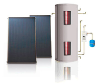 Pressurized Flat Plate Heating Collector System