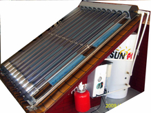 shower industrial heat pipe solar water heater
