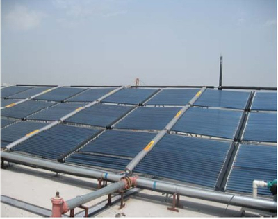 Project flat panel commercial Solar Water Heater